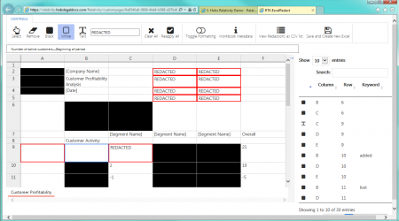 RTK Excel Redact UI Full